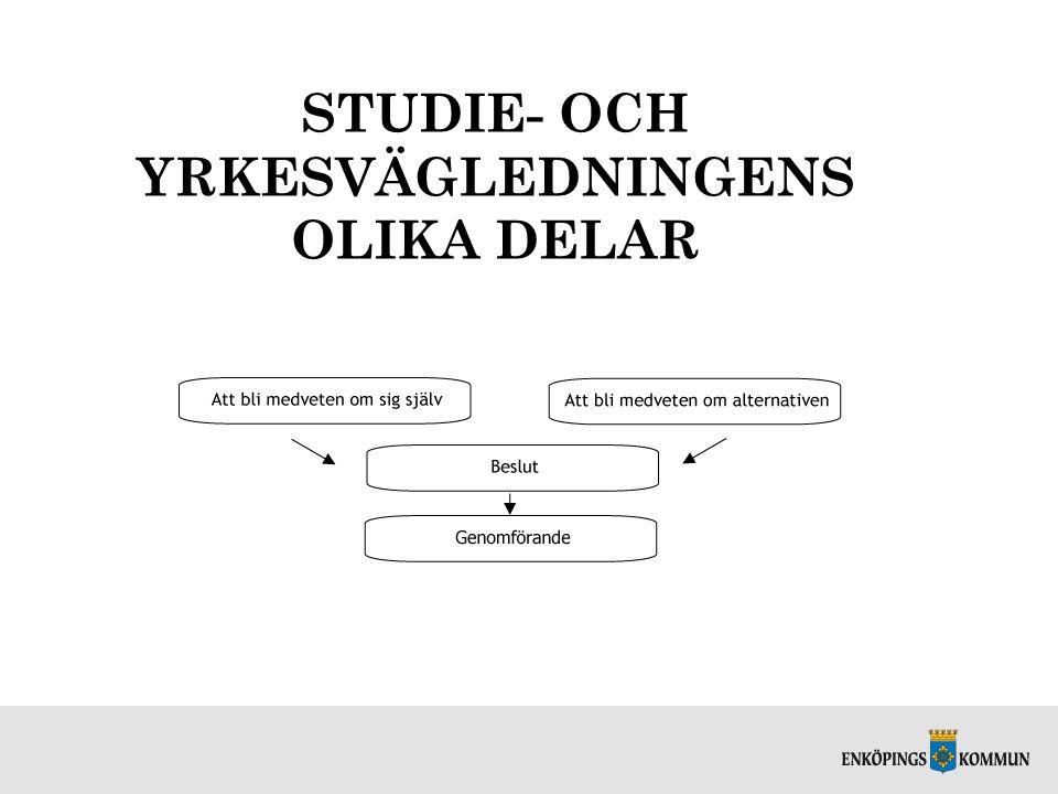 STUDIE- OCH YRKESVÄGLEDNINGENS OLIKA DELAR