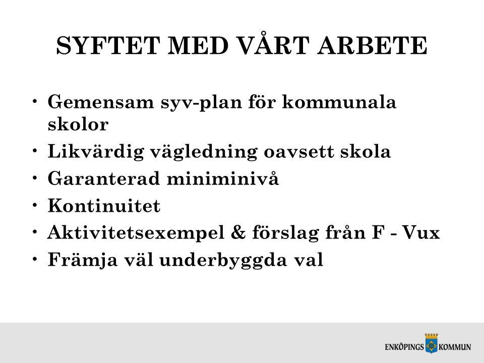 ARBETSPLANENS RÖDA TRÅD Studie- och yrkesvägledningens delar Styrdokumenten
