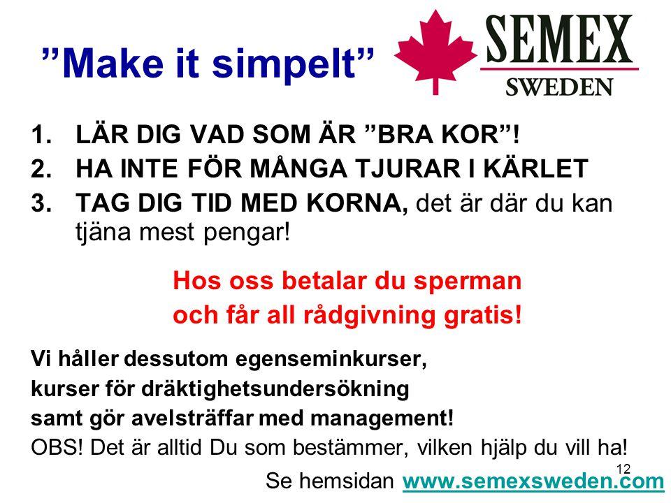 12 Make it simpelt 1.LÄR DIG VAD SOM ÄR BRA KOR .