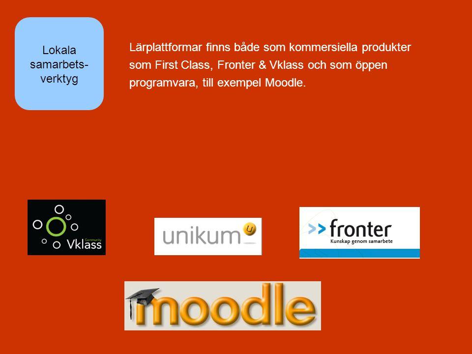 Lärplattformar finns både som kommersiella produkter som First Class, Fronter & Vklass och som öppen programvara, till exempel Moodle.