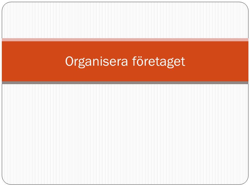 Organisera företaget