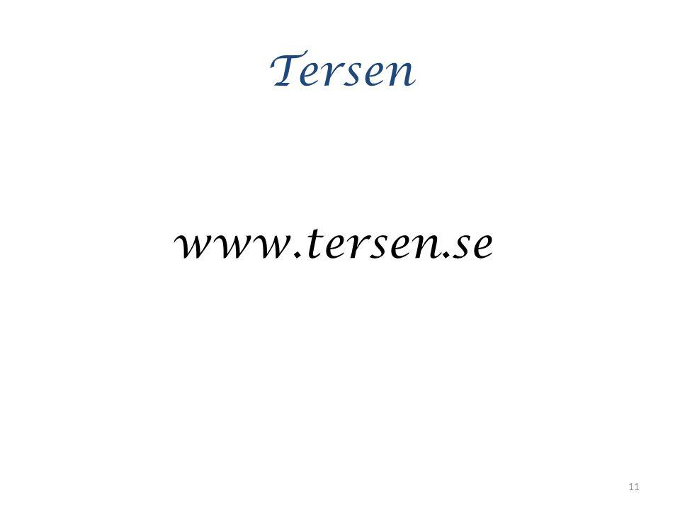 Tersen www.tersen.se 11