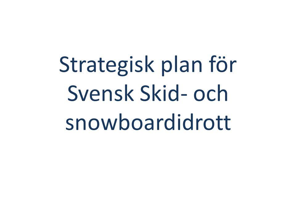 Strategisk plan för Svensk Skid- och snowboardidrott