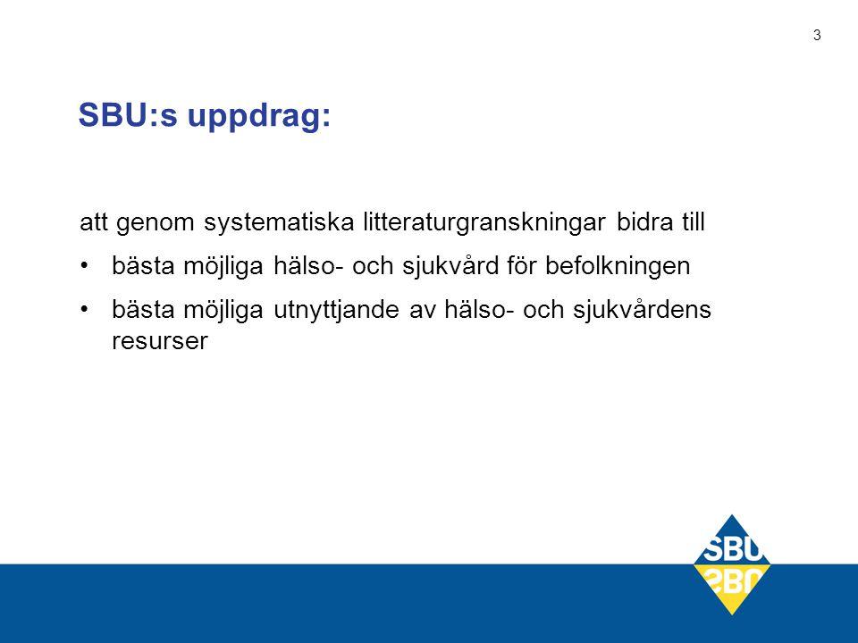 4 För att evidensen skall tillämpas krävs samarbete SBU EBM-underlag LV SoS Landstingen Rekommendationer Riktlinjer Föreskrifter Vårdprogram Strukturförändringar Prioriteringar Uppföljning