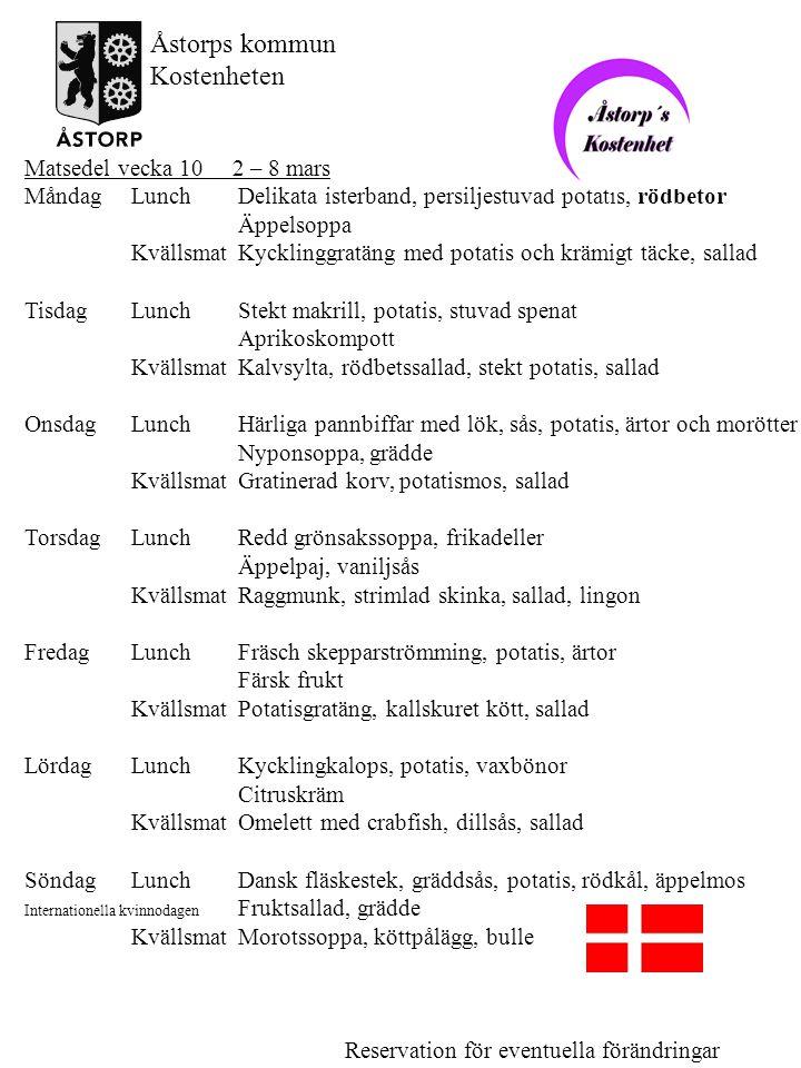 Matsedel vecka 10 2 – 8 mars MåndagLunchDelikata isterband, persiljestuvad potatis, rödbetor Äppelsoppa KvällsmatKycklinggratäng med potatis och krämi