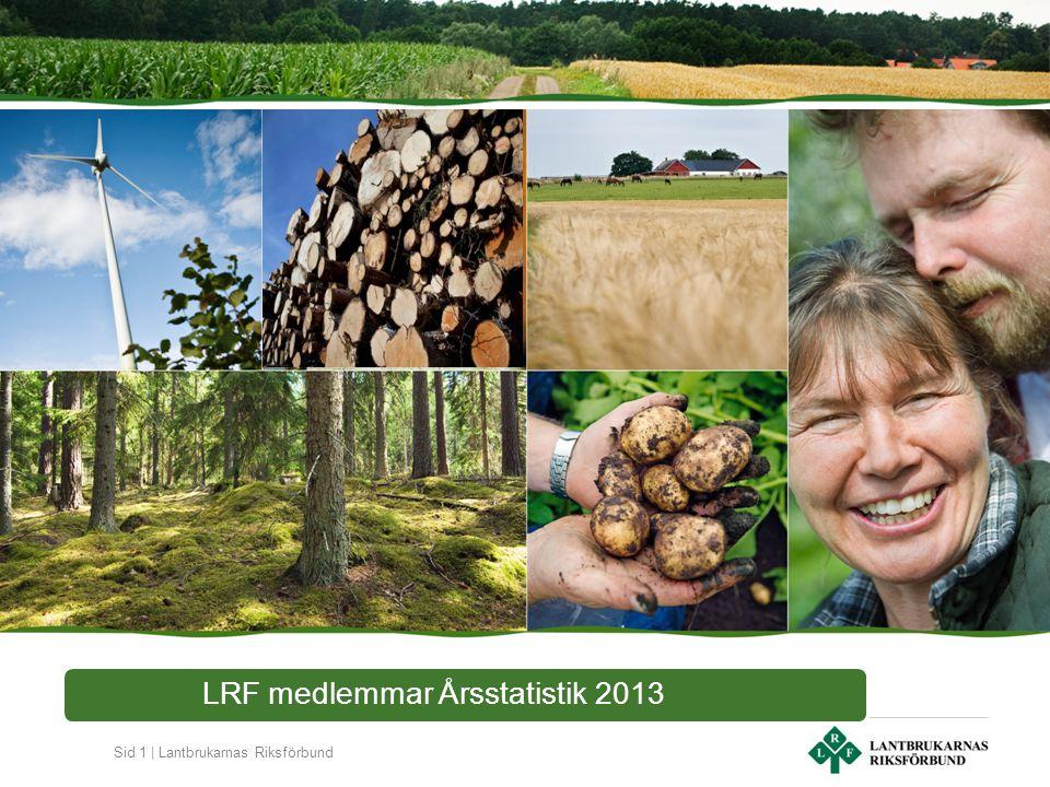 Sid 1 | Lantbrukarnas Riksförbund LRF medlemmar Årsstatistik 2013