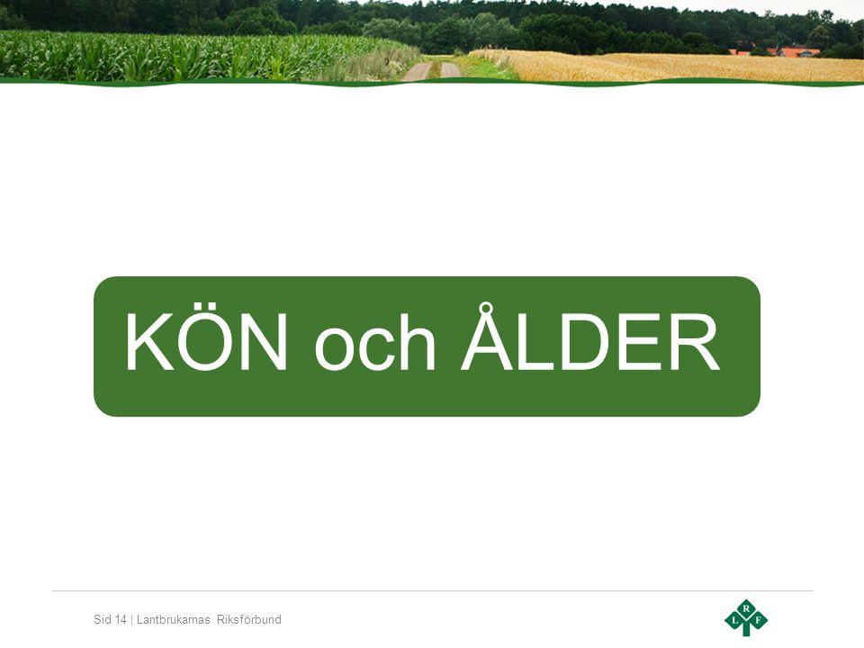 Sid 14 | Lantbrukarnas Riksförbund KÖN och ÅLDER