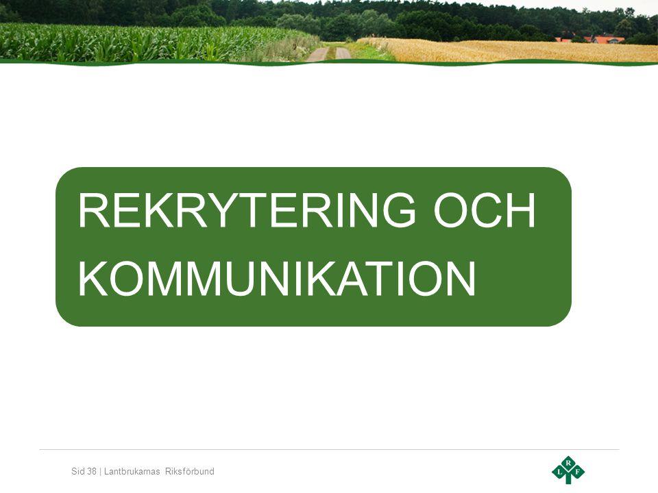Sid 38 | Lantbrukarnas Riksförbund REKRYTERING OCH KOMMUNIKATION
