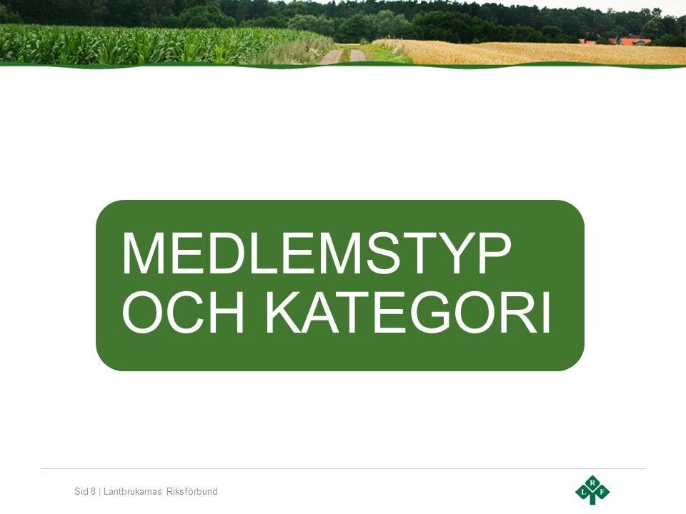 Sid 8 | Lantbrukarnas Riksförbund MEDLEMSTYP OCH KATEGORI