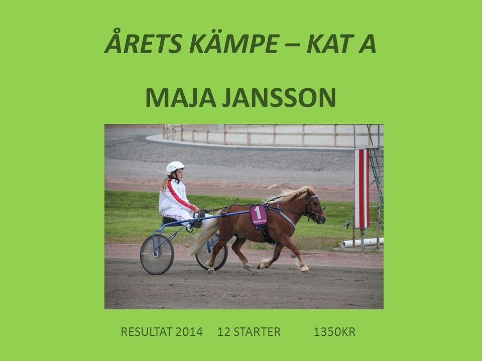ÅRETS KÄMPE – KAT A MAJA JANSSON RESULTAT 201412 STARTER1350KR