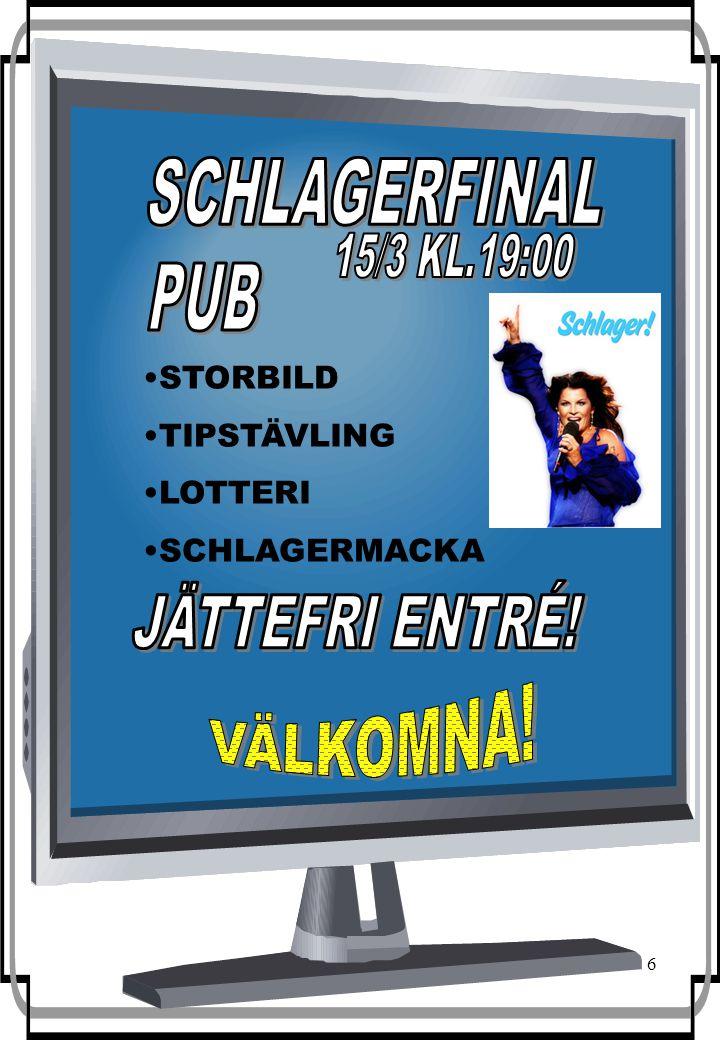 6 Tävlingar Lotteri Schlagermackor STORBILD TIPSTÄVLING LOTTERI SCHLAGERMACKA