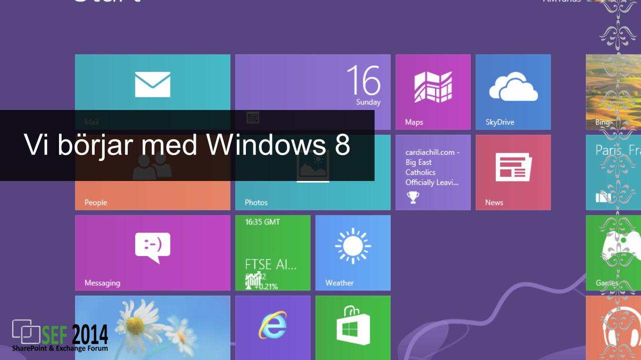 Vi börjar med Windows 8