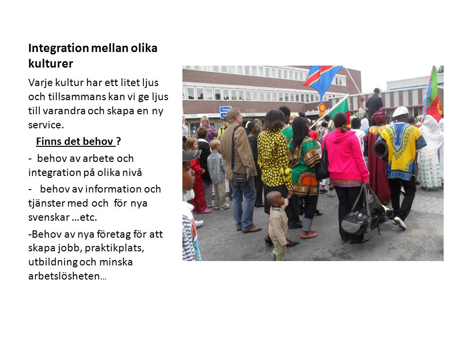 Koncepts ägare : Michel Ntoto Presentation : oktober 2011 i Träffpunkt Muco lokal