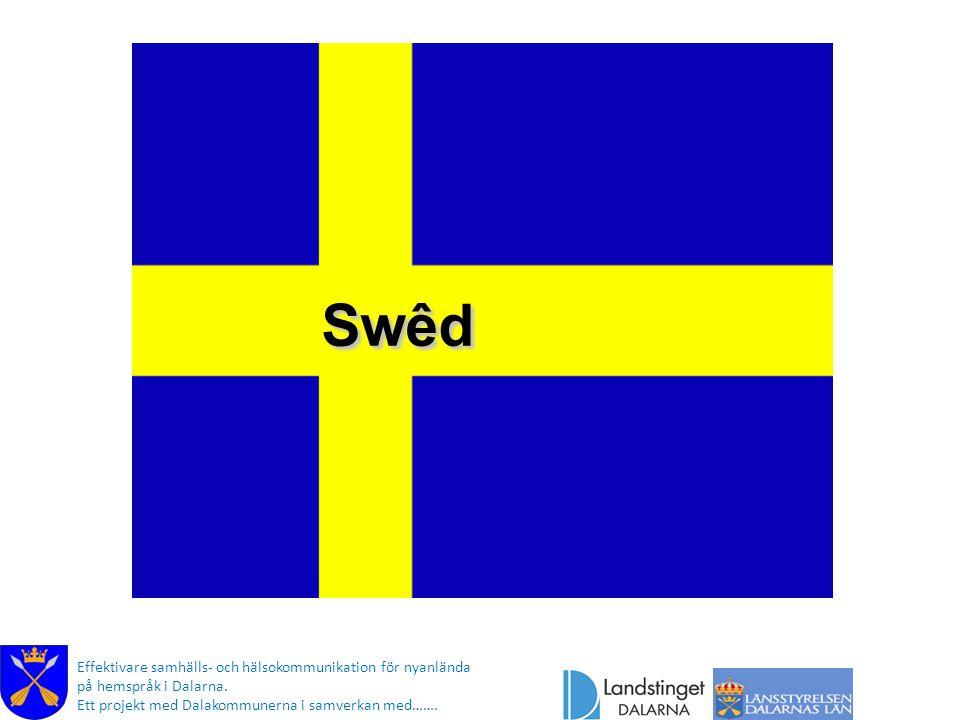 Swêd Effektivare samhälls- och hälsokommunikation för nyanlända på hemspråk i Dalarna. Ett projekt med Dalakommunerna i samverkan med…….
