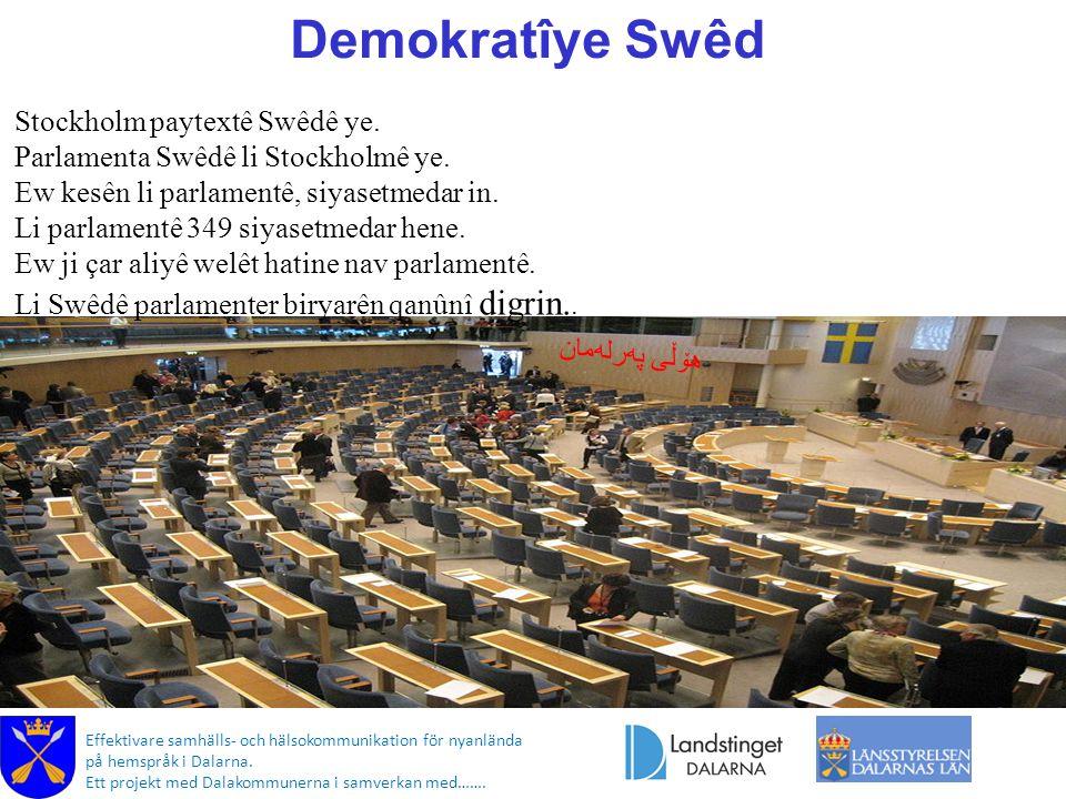 Demokratîye Swêd هۆڵی په  رله  مان Effektivare samhälls- och hälsokommunikation för nyanlända på hemspråk i Dalarna.