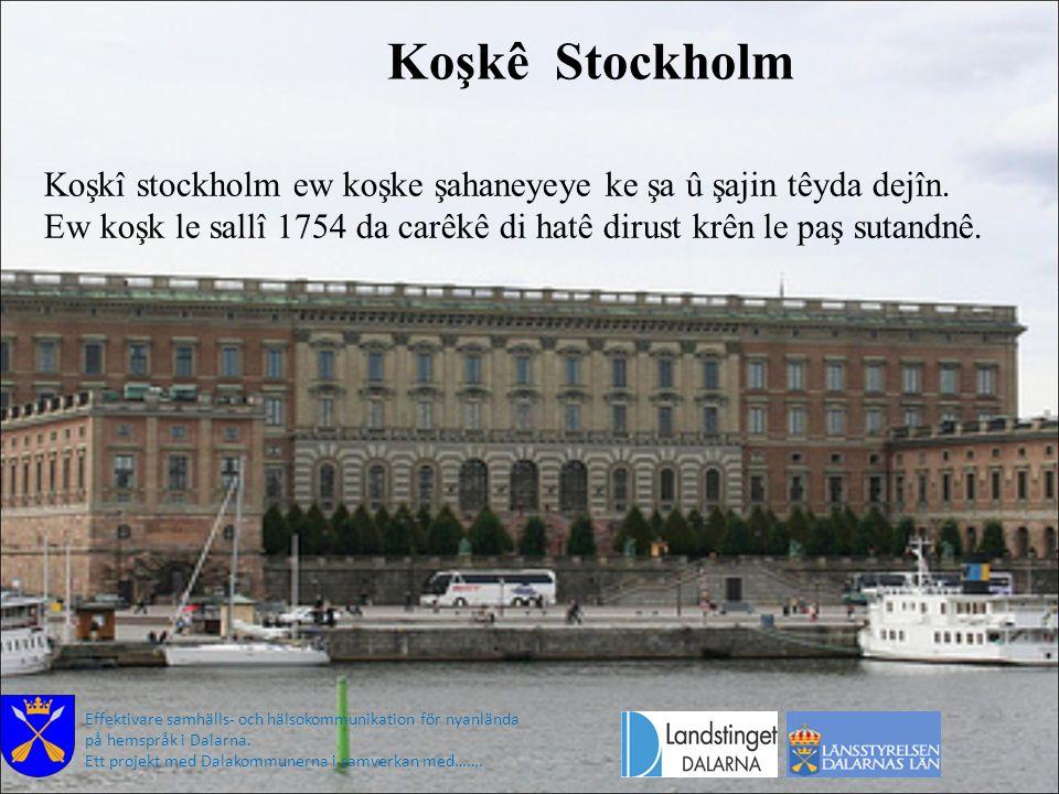 Koşkê Stockholm Effektivare samhälls- och hälsokommunikation för nyanlända på hemspråk i Dalarna. Ett projekt med Dalakommunerna i samverkan med……. Ko