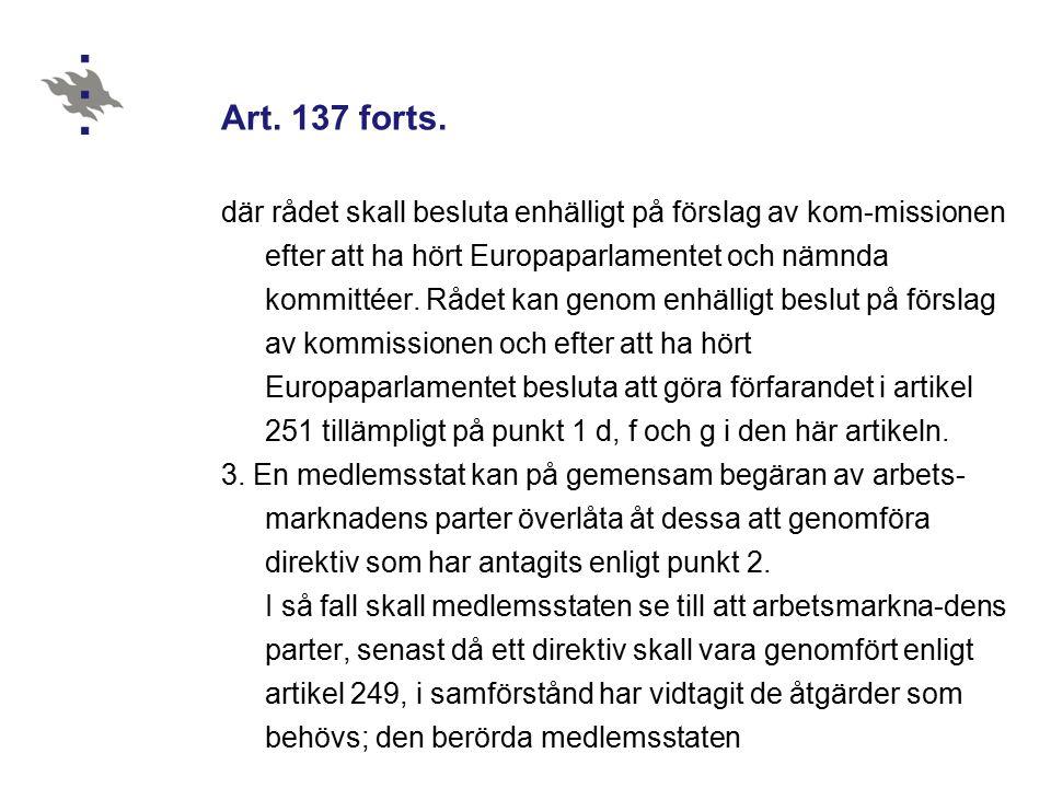 Art. 137 forts.
