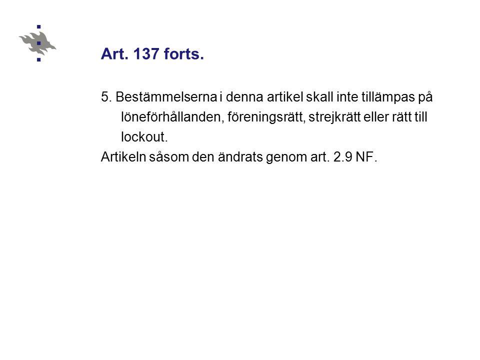 Art. 137 forts. 5.