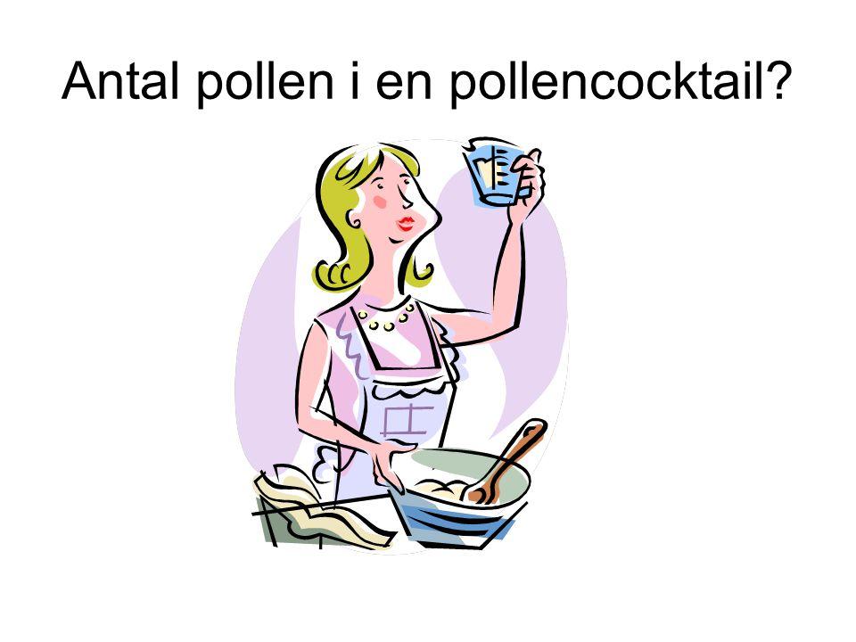 Antal pollen i en pollencocktail