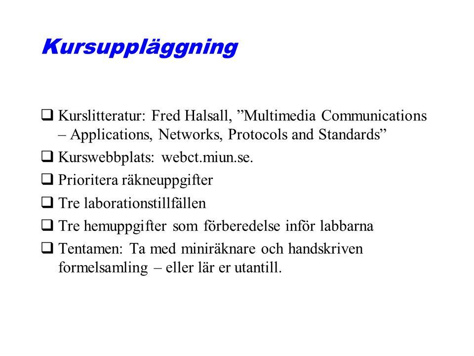 Multimedia- och kommunikations- system, lektion 1 Föreläsningsmaterialet är författat av Magnus Eriksson, Nayeb Maleki och Iskra Popova. Bilder är äve