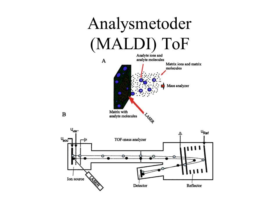 Analysmetoder (MALDI) ToF