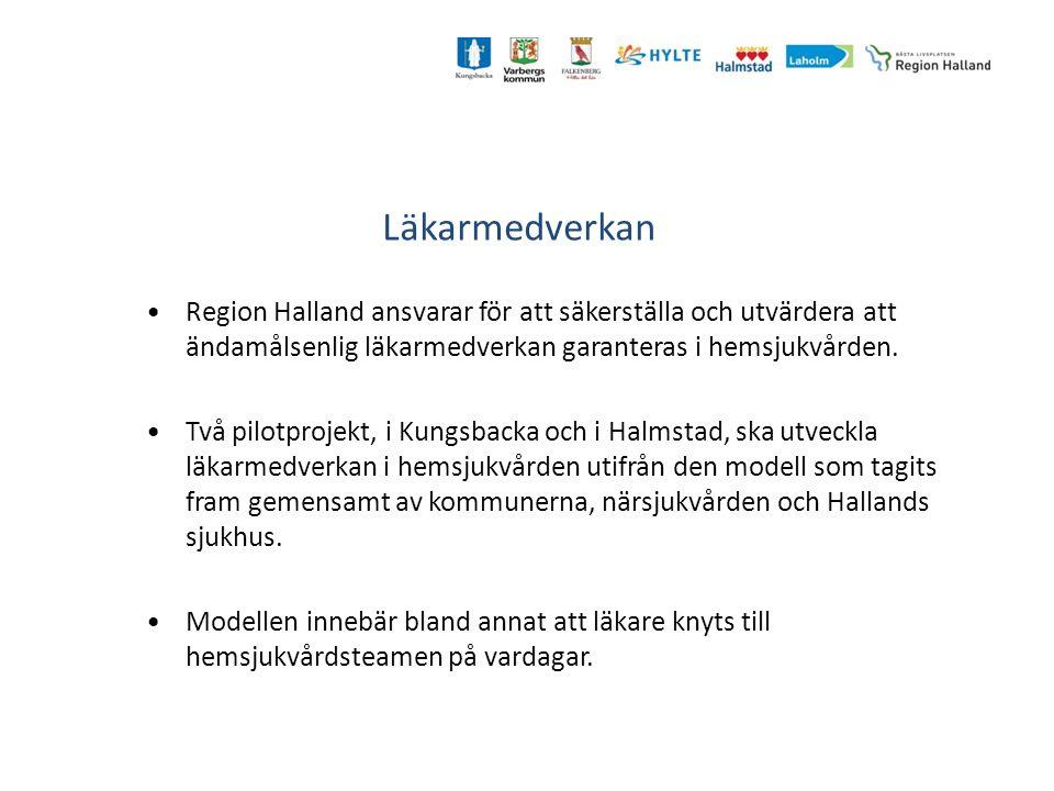 Läkarmedverkan Region Halland ansvarar för att säkerställa och utvärdera att ändamålsenlig läkarmedverkan garanteras i hemsjukvården. Två pilotprojekt