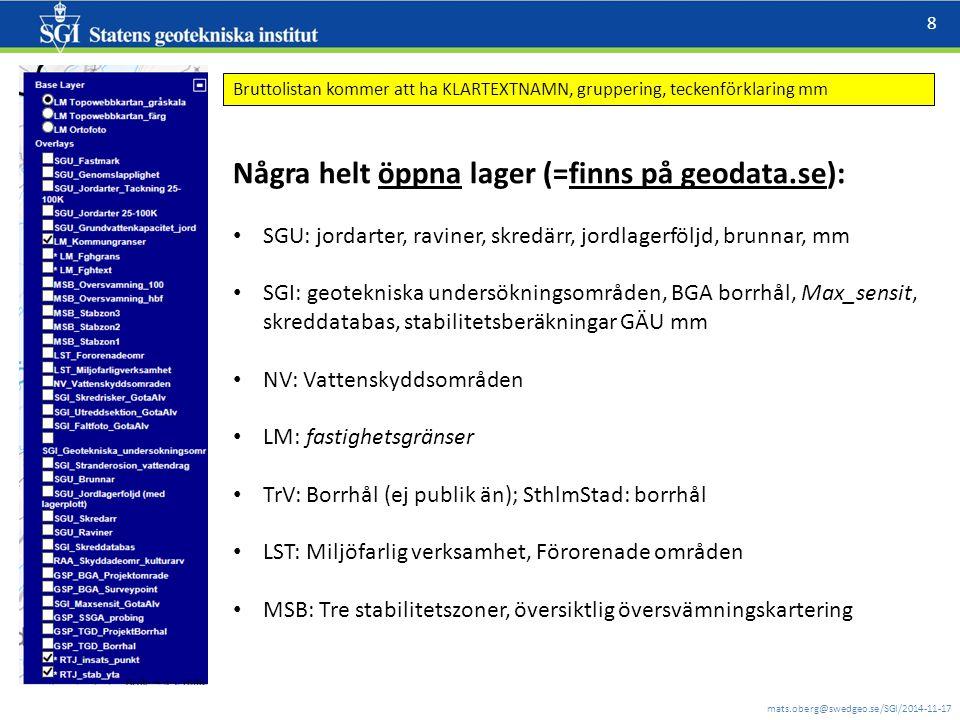 mats.oberg@swedgeo.se/SGI/2014-11-17 9 Teckenförklaring från WMS-en, metadatapost på geodata.se