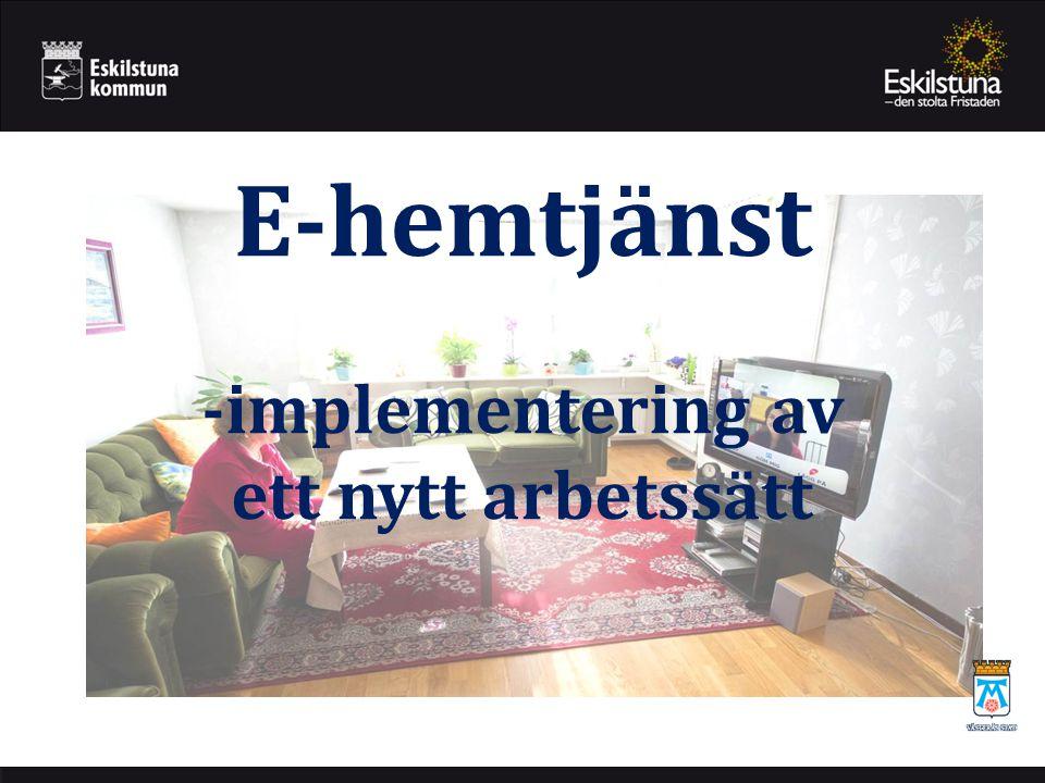 E-hemtjänst -implementering av ett nytt arbetssätt