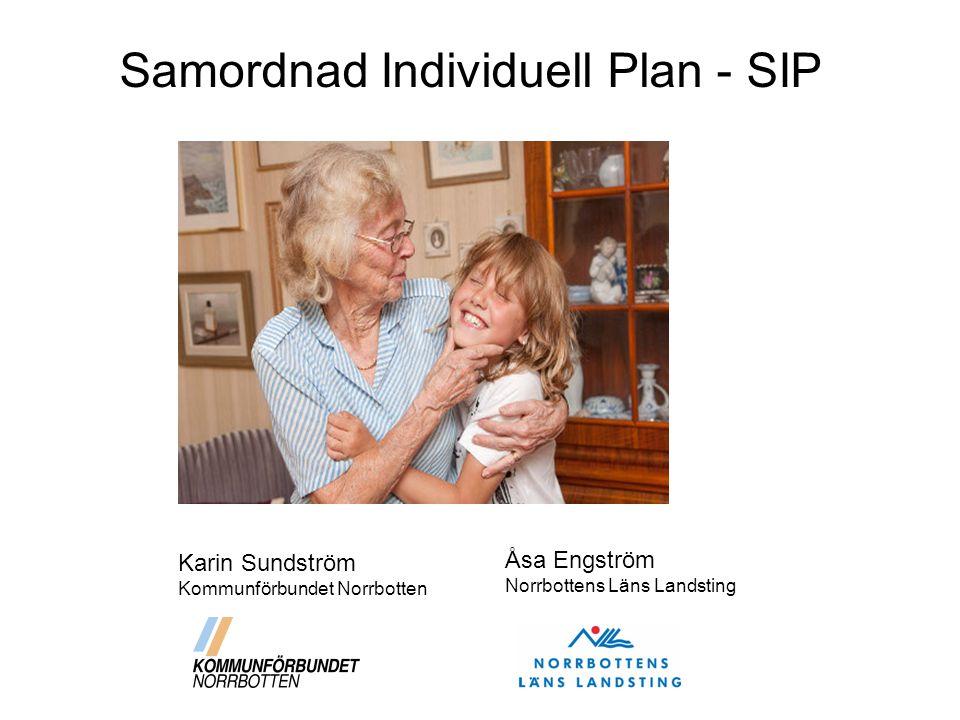 Vid minderårig - Vårdnadshavare samtycker Samordningsansvarigs uppgifter Inför SIP Obligatorisk textruta