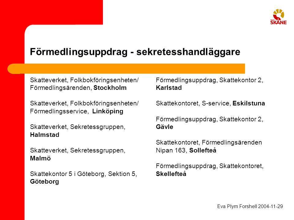 Förmedlingsuppdrag - sekretesshandläggare Skatteverket, Folkbokföringsenheten/ Förmedlingsärenden, Stockholm Skatteverket, Folkbokföringsenheten/ Förm