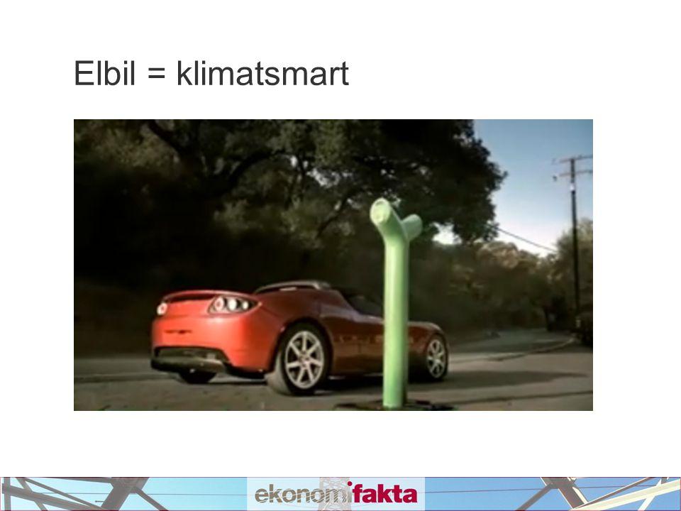 Elbil = klimatsmart