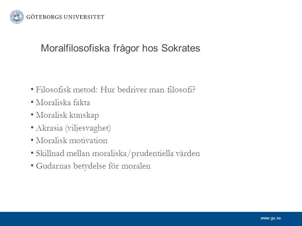 www.gu.se Platon (427-327f.kr) Moraliska fakta: finns de.