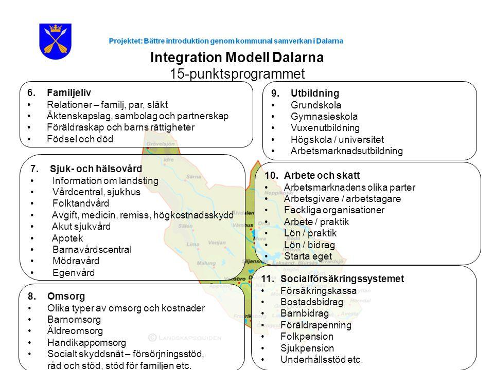 Integration Modell Dalarna 15-punktsprogrammet 8.
