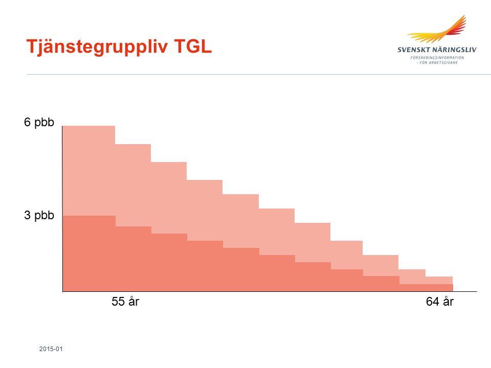 Tjänstegruppliv TGL 6 pbb 3 pbb 55 år64 år 2015-01