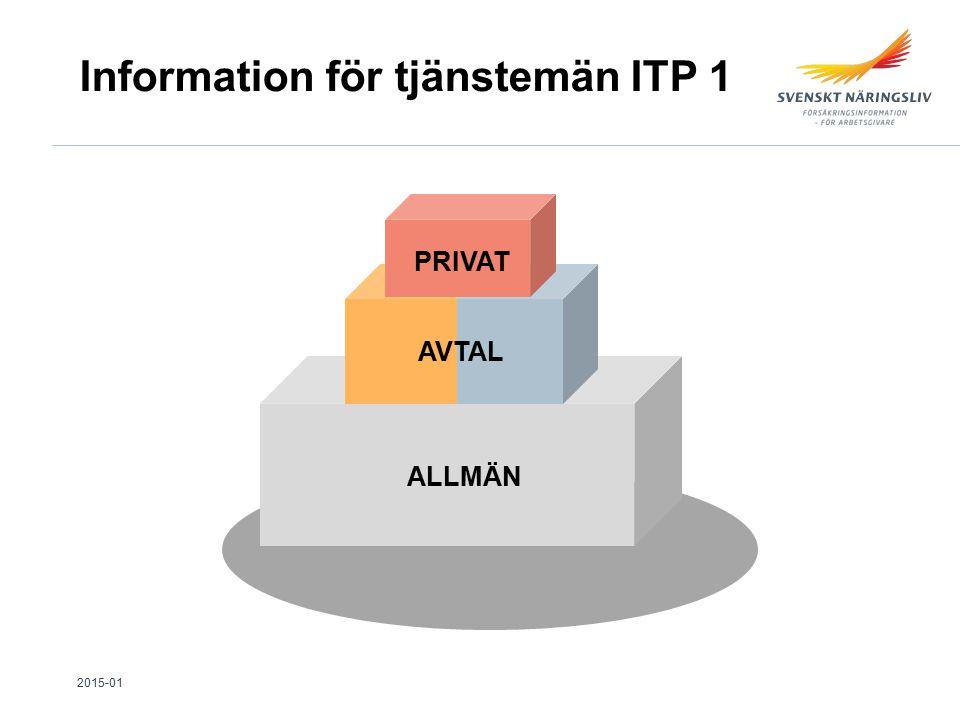 ALLMÄN AVTAL PRIVAT Information för tjänstemän ITP 1 2015-01
