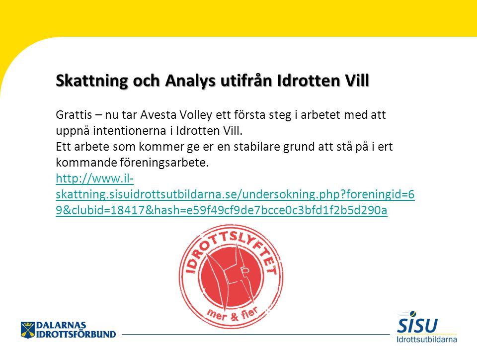 Grattis – nu tar Avesta Volley ett första steg i arbetet med att uppnå intentionerna i Idrotten Vill.