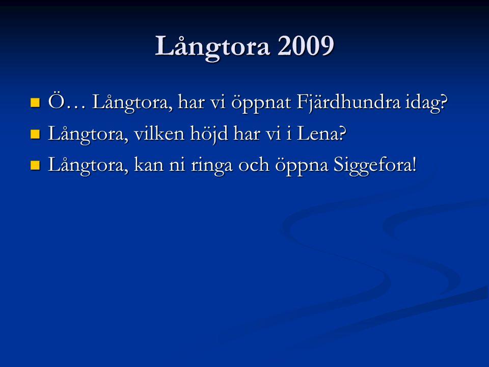 Långtora 2009 Ö… Långtora, har vi öppnat Fjärdhundra idag.