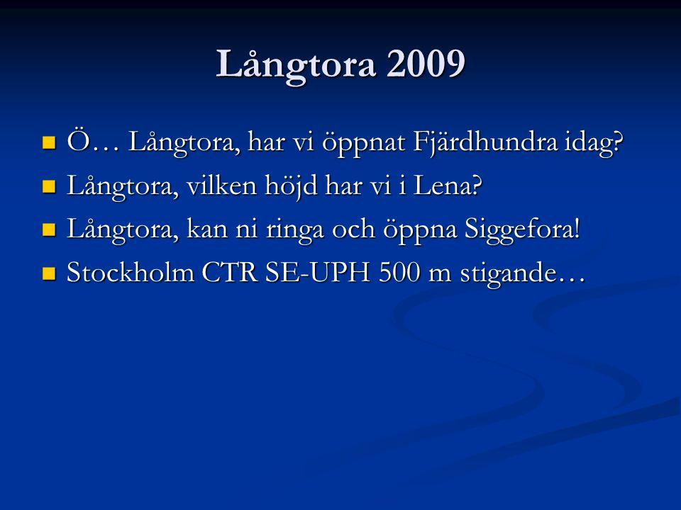 LÅNGTORA LUFTRUM 2010 Med undantag av Vittinge och Tärna, öppnas/stängs samtliga sektorer via telefonkontakt med ATCC på Arlanda (08-585 547 02).