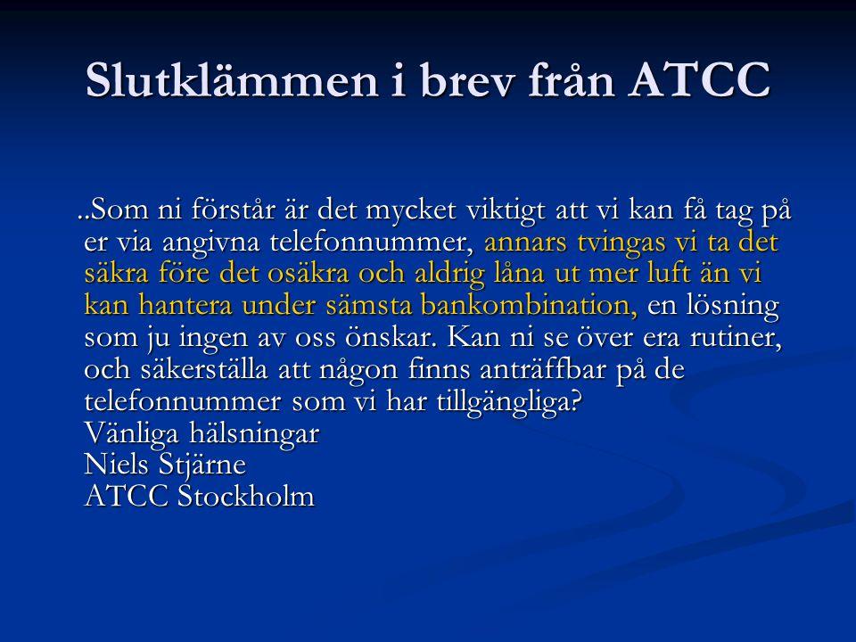 Vi har en bra relation med Arlanda, Västerås och Borlänge.
