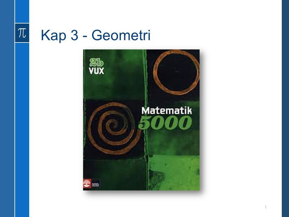 Kap 3 - Geometri 1
