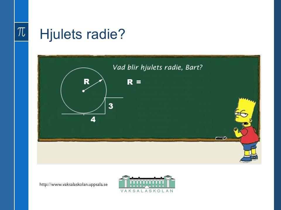 Hjulets radie? http://www.vaksalaskolan.uppsala.se