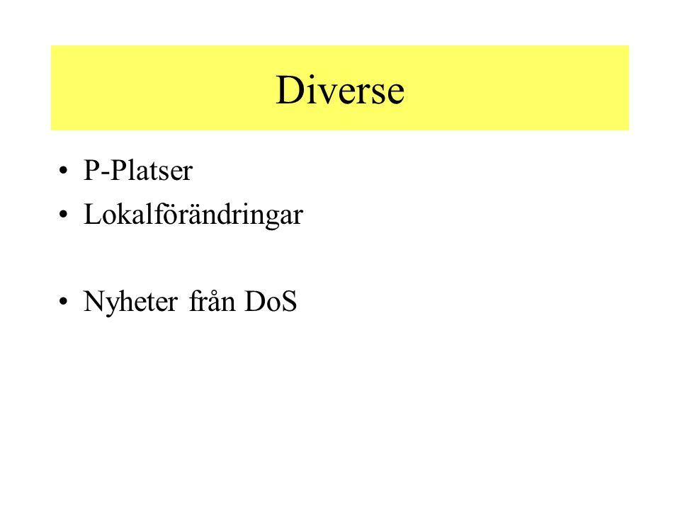 Diverse P-Platser Lokalförändringar Nyheter från DoS
