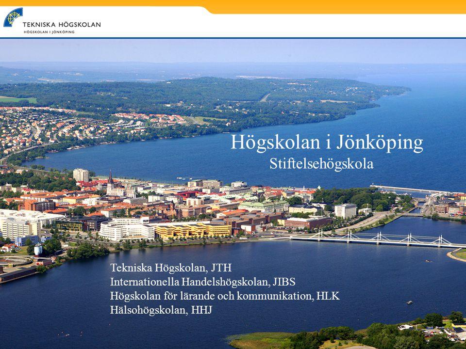 Högskolan i Jönköping Stiftelsehögskola Tekniska Högskolan, JTH Internationella Handelshögskolan, JIBS Högskolan för lärande och kommunikation, HLK Hä
