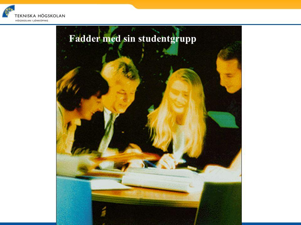 Fadder med sin studentgrupp