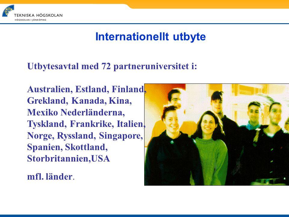 Internationellt utbyte Australien, Estland, Finland, Grekland, Kanada, Kina, Mexiko Nederländerna, Tyskland, Frankrike, Italien, Norge, Ryssland, Sing