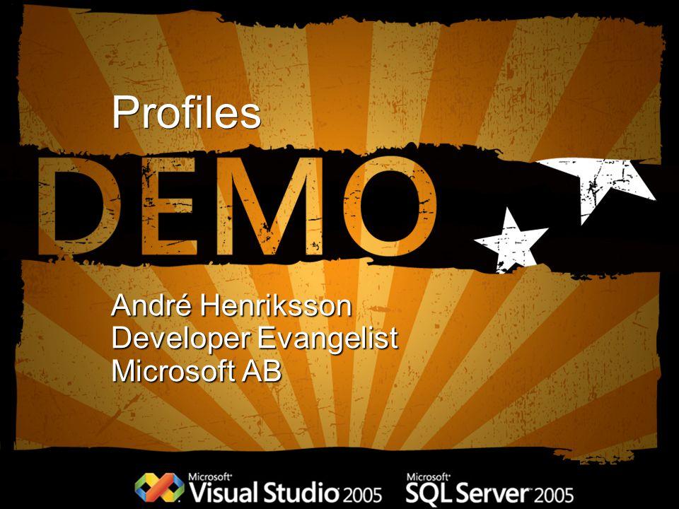 Profiles André Henriksson Developer Evangelist Microsoft AB