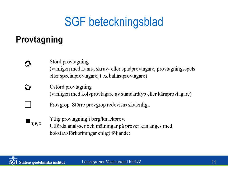 Länsstyrelsen Västmanland 100422 11 SGF beteckningsblad
