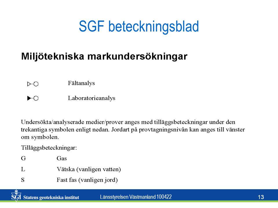 Länsstyrelsen Västmanland 100422 13 SGF beteckningsblad