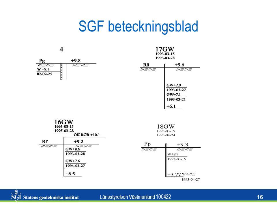 Länsstyrelsen Västmanland 100422 16 SGF beteckningsblad