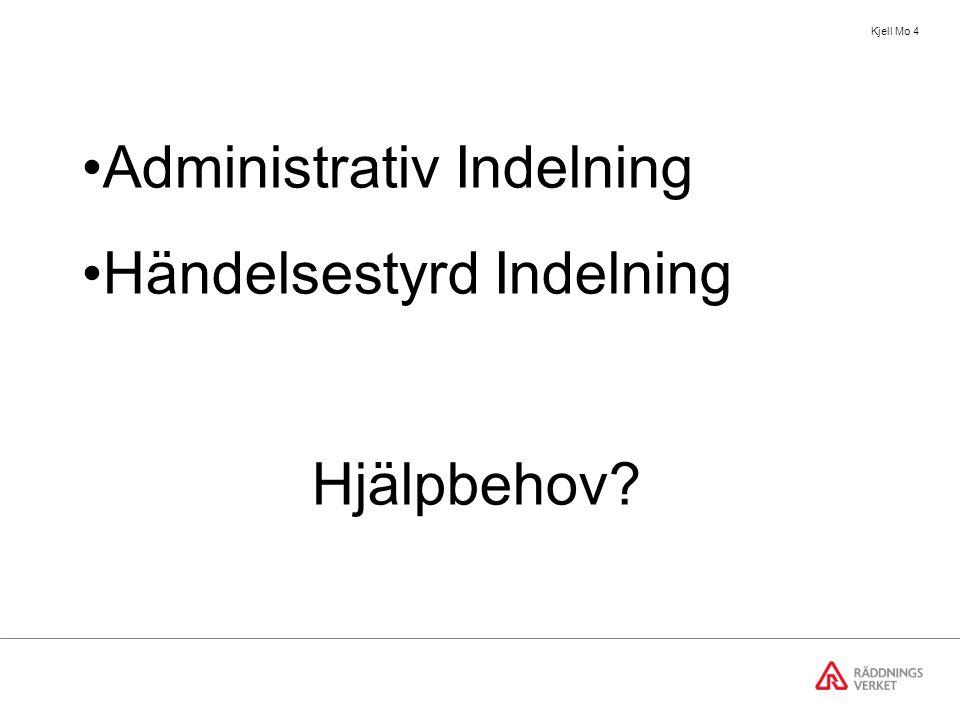 Kjell Mo 4 Administrativ Indelning Händelsestyrd Indelning Hjälpbehov